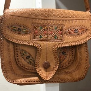 Vintage Bags - Vintage Moroccan Leather Purse